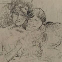La leçon de dessin (détail) Berthe Morisot